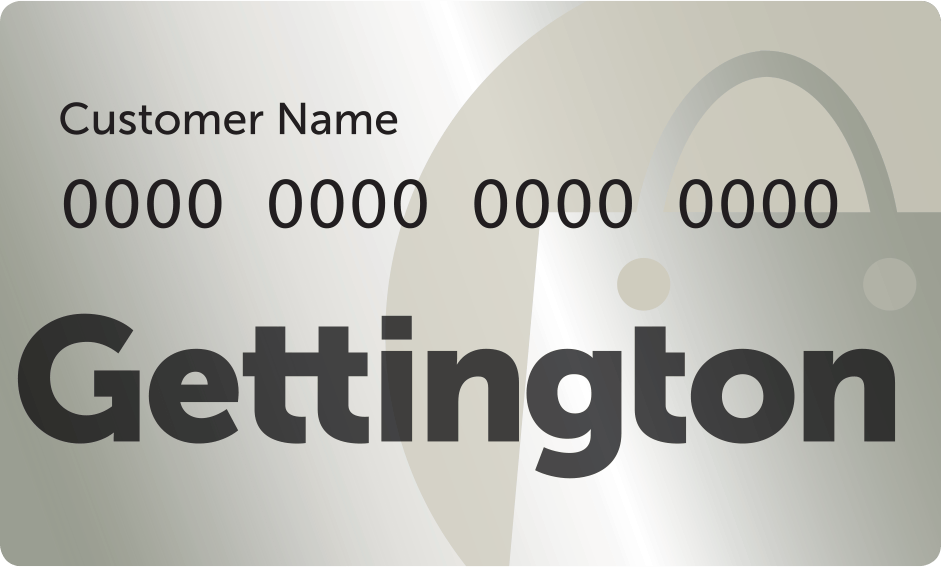 Gettington Credit Account issued by WebBank